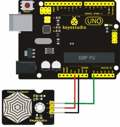 Arduino Buhar Sensörü Örnek Bağlantı Şeması